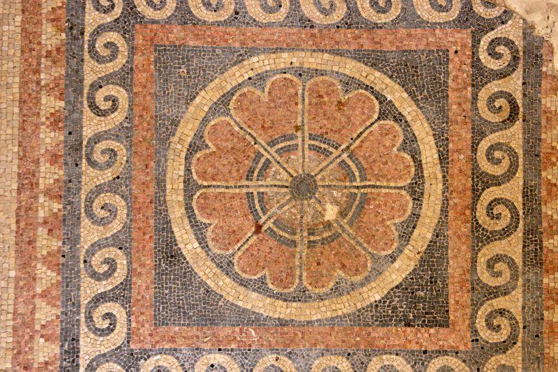 32. Mosaic at Masada HI404-098